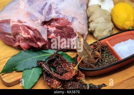 Leg of Lamb for a Sunday Roast - Stock Photo