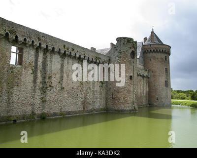 Château de Suscinio, Sarzeau, Morbihan, Brittany, France - Stock Photo