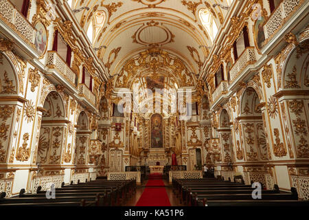 Interior of Church of Our Lady of the Old Cathedral Carmo (1761), Centro, Rio de Janeiro, Brazil, South America - Stock Photo