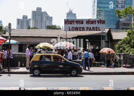 lower parel station, mumbai, maharashtra, India, Asia - Stock Photo