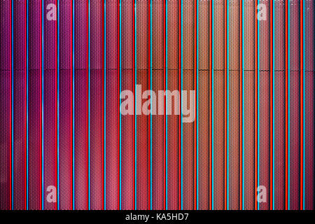 Red Architectural Grill Detail - Stock Photo