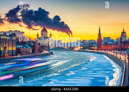 Winter in Moscow city - Stock Photo