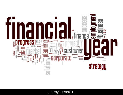 Financial year word cloud - Stock Photo