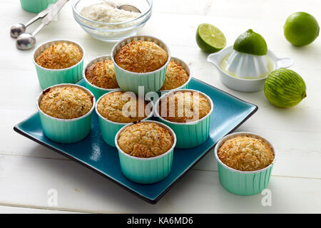 Tropical lime and coconut cookies - Stock Photo