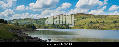 The reservoir at Wet Sleddale in Eastern Cumbria - just within the Lake District National Park. - Stock Photo