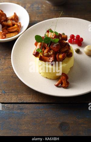 Mashed potatoes, food closeup - Stock Photo