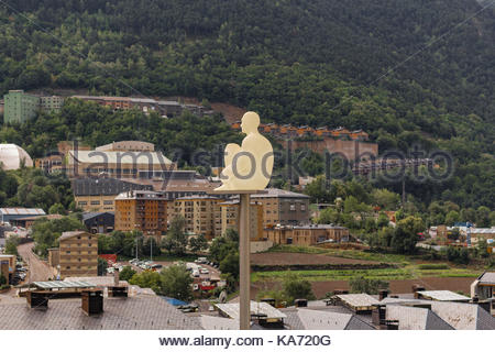 One of the seven poetas in Andorra La Vella - Stock Photo