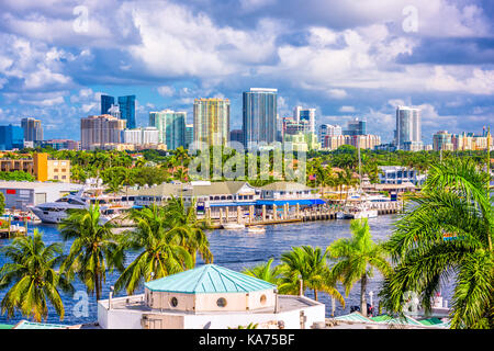 Fort Lauderdale, Florida, USA skyline. - Stock Photo