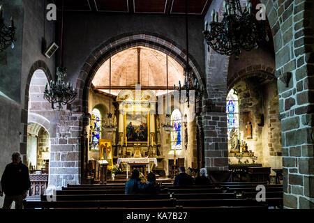 The Chapel of St. Peter Le Mont Saint-Michel, Normandy, France. - Stock Photo