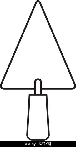 trowel flat icon monochrome silhouette - Stock Photo