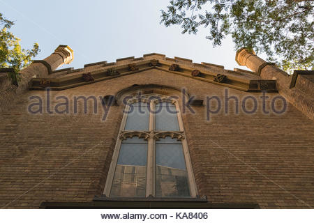 Church of the Holy Trinity architectural features. The historic place and tourist attraction was the fourth Anglican - Stock Photo