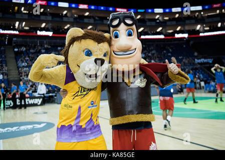 London, UK. 24th Sep, 2017. Betway All-Stars Basketball Championship at The 02 London Lions win inaugural betway - Stock Photo