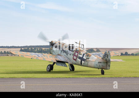 Duxford, UK. 24th Sep, 2017. Vintage aircraft at the Duxford Battle of Britain Air Show in Duxford, UK. Credit: - Stock Photo