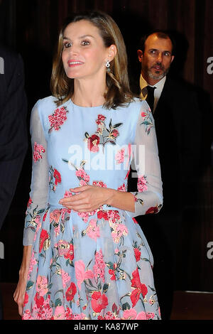 Palma de Mallorca, Spain. 25th Sep, 2017. Spanish Queen Letizia during the inauguration of the new Palace of Congresses - Stock Photo