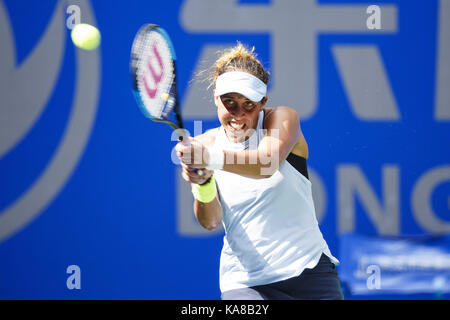Wuhan, China. 25th Sep, 2017.  (EDITORIAL USE ONLY. CHINA OUT).Uzbekistani naturalized American professional tennis - Stock Photo