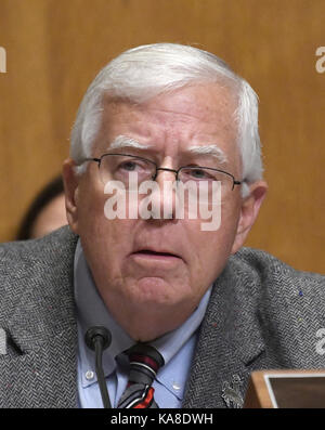 Washington, Us. 25th Sep, 2017. United States Senator Mike Enzi (Republican of Wyoming) acts as temporary chairman - Stock Photo
