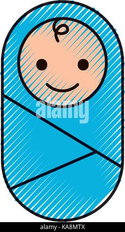 Baby Wrapped In Blanket Clothes Healthcare Stock Vector Art