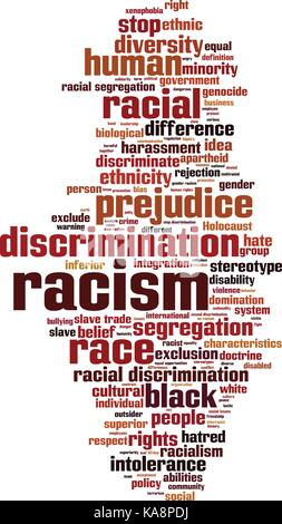Racism word cloud concept. Vector illustration - Stock Photo