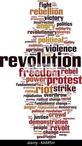 Revolution word cloud concept. Vector illustration - Stock Photo