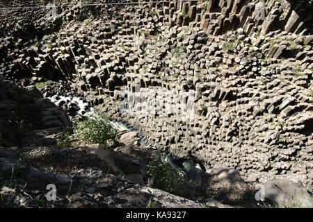 Huasca de Ocampo, Hidalgo, Mexico - 2016: The Basaltic Prisms of Santa María Regla are tall columns of basalt rock. - Stock Photo