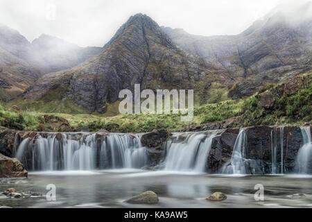 Fairy Pools, Glen Brittle, Isle of Skye, Scotland, United Kingdom - Stock Photo