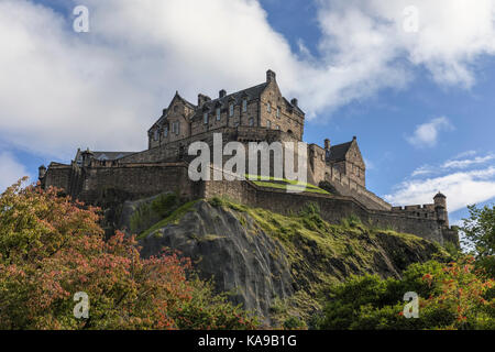 Edinburgh Castle, Lothian, Scotland, United Kingdom - Stock Photo