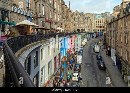 Edinbugh, Victoria Street, Lothian, Scotland, United Kingdom - Stock Photo