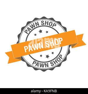 Pawn shop stamp illustration - Stock Photo