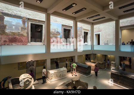 Berlin. Germany. The Neues Museum (New Museum), Museum Island, the Egyptian Courtyard.  The Neues Museum exhibits - Stock Photo