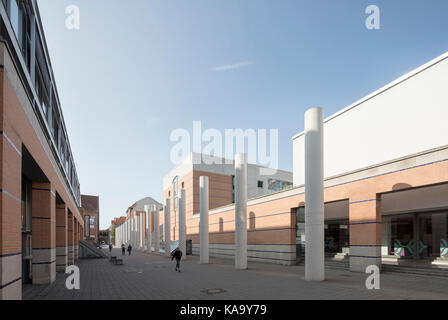 New entrance to the The Germanisches Nationalmuseum, designed by Jan Störmer, 1993, Nuremberg, Germany - Stock Photo