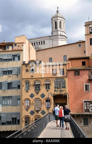 Catalonia, Spain Sep 2017. Girona - Stock Photo