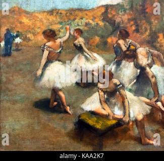 Degas. Danseuses sur la Scene (Dancers on Stage) by Edgar Degas, oil on canvas, c.1889 - Stock Photo