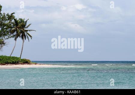 Beautiful beach in Bath on the east coast of Barbados - Stock Photo