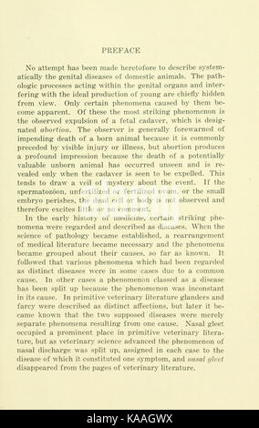 The diseases of the genital organs of domestic animals BHL21321534 - Stock Photo