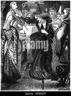 The christening by Arthur Hughes - Stock Photo