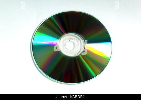 CD compact disc (back side) - Stock Photo
