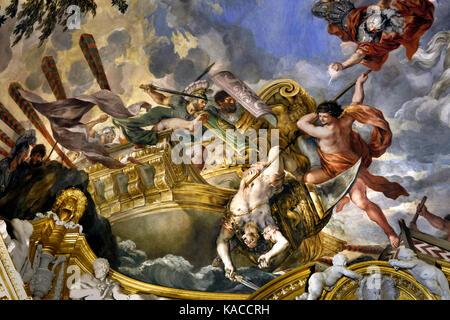 Room of Mars in the Pitti Palace Florence Italy by Pietro da Cortona 1596/7 – 1669 was an Italian Baroque painter - Stock Photo