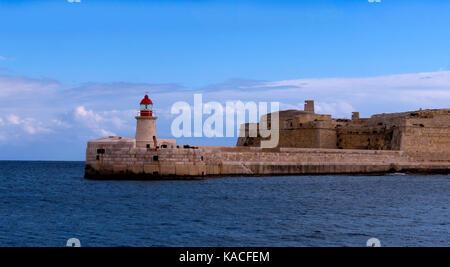Boat trip around the Grand Harbour in Valleta Malta - Stock Photo