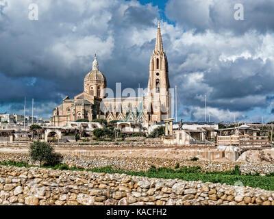 Sights on the island of Gozo off the coast of Malta - Stock Photo