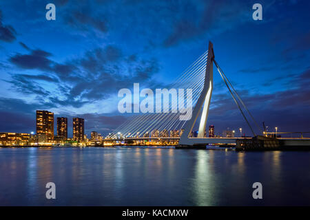 Erasmus Bridge, Rotterdam, Netherlands - Stock Photo