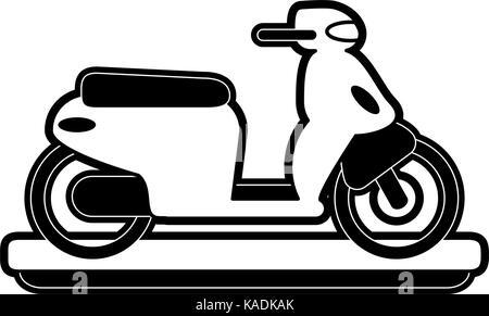 scooter motorbike icon image - Stock Photo