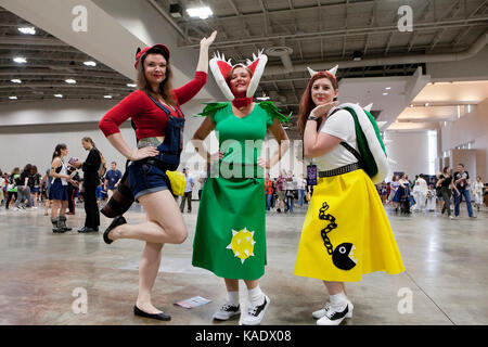 Cosplayers at Awesome Con 2017 - Washington, DC USA - Stock Photo