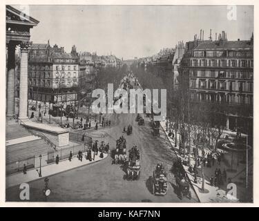 Boulevard de La Madeleine, Paris - Stock Photo