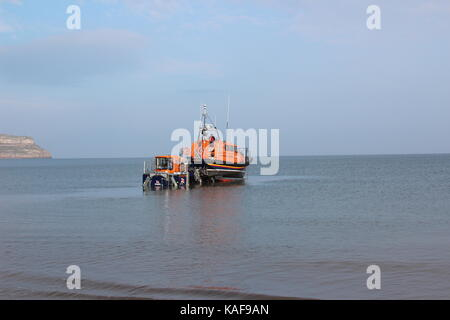 A new lifeboat for Llandudno the RNLI Shannon-class lifeboat, the William F Yates  arrived at Llandudno new lifeboat - Stock Photo