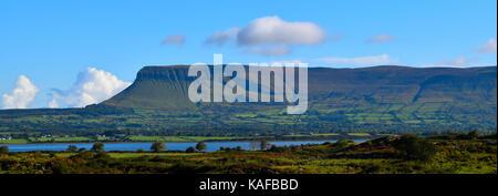 Ben Bulben mountain from the south-side near Rosses Point in Sligo, Ireland. - Stock Photo