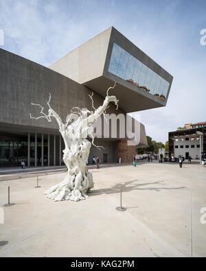 Rome. Italy. MAXXI National Museum of 21st Century Arts (Museo nazionale delle arti del XXI secolo), designed by - Stock Photo