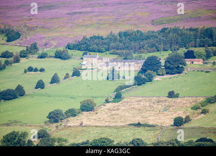 View over Westerdale from Castleton Rigg. North York Moors National Park, North Yorkshire, England. UK - Stock Photo