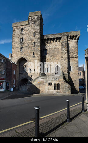 Hexham Northumberland Moot Hall - Stock Photo