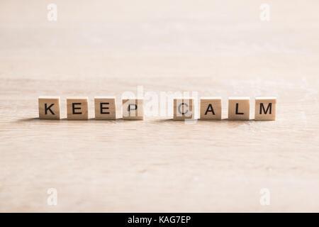 Keep calm phrase - Stock Photo