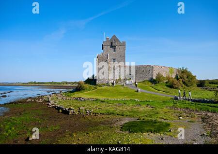 Dunguaire castle, Kinvarra, County Galway, Ireland - Stock Photo
